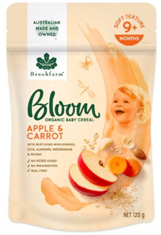 Bloom Apple & Carrot Organic Baby Cereal 120g