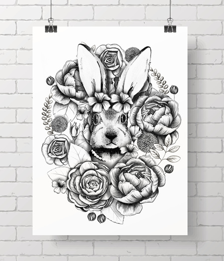 Bloom bunny 8x10 - one spare print