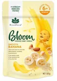 Bloom Smooth Banana Organic Baby Cereal 120g