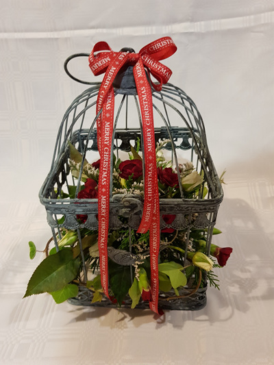 Bloomers Christmas Bird Cage