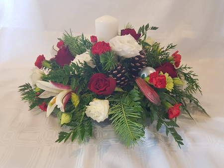 Bloomers Christmas Table Arrangement