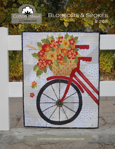 Blossoms and Spokes Quilt Pattern from Cotton Street Commons