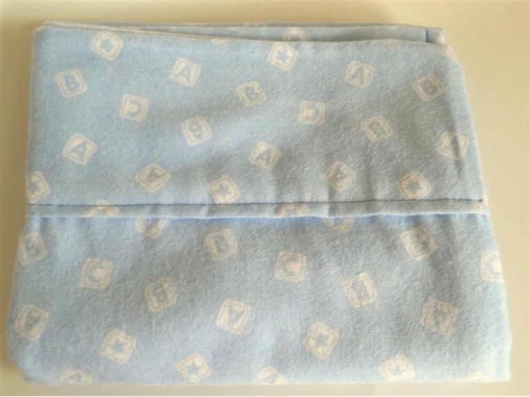 Blue ABC Moses Basket Sheets