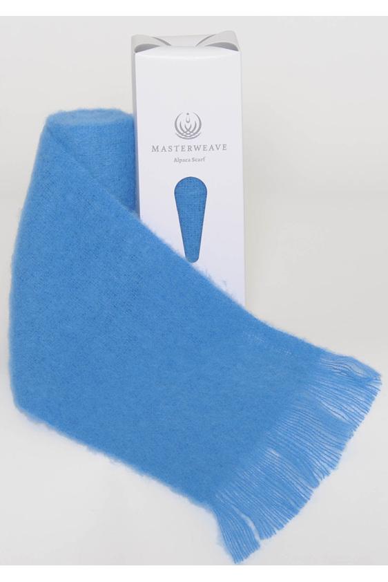 Blue Alpaca Scarf by Masterweave