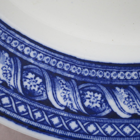 Blue and white plate Versailles