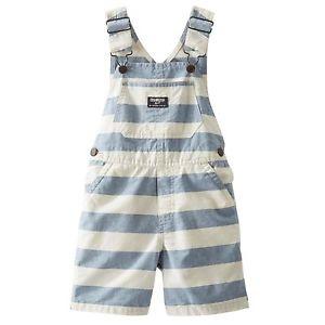 Blue and White stripe OshKosh overalls