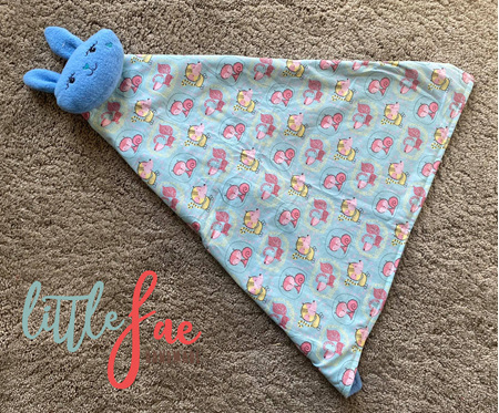 Blue Animal Snuggle Bunny Blanket