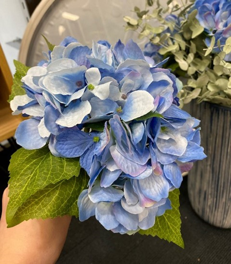 Blue Artificial Hydrangea Bouquet