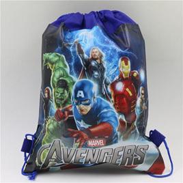 Blue Avengers Drawstring Bag