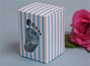 Blue baby shower favour box