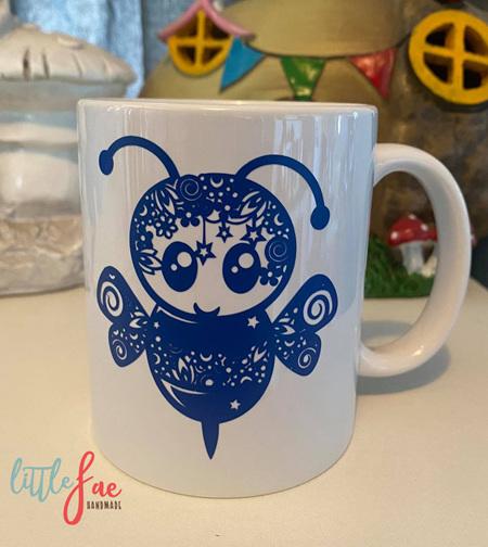 Blue Bee Mug