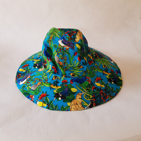 Blue Birds Sombrero Hat - Adult size large