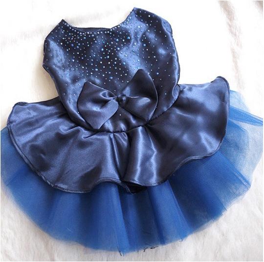 blue bubble dog dress
