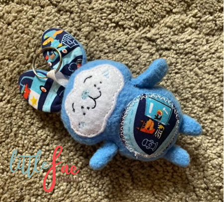 Blue Bunny Keyring