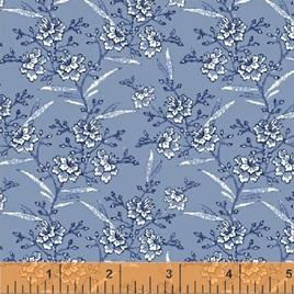 Blue Byrd Floral Sprigs in Wedgewood 514283