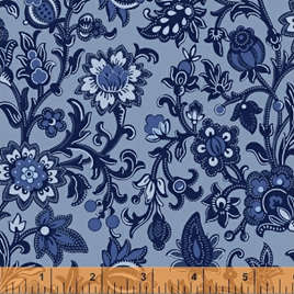 Blue Byrd Rambling Floral in Wedgewood 514263