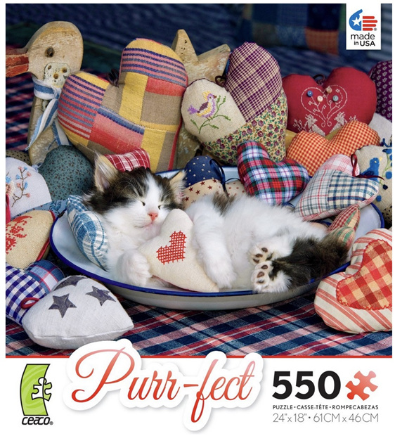 Blue Ceaco 550 piece puzzle purr-fect  buy at www.puzzlesnz.co.nz