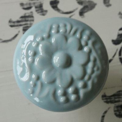 Blue Ceramic Knob