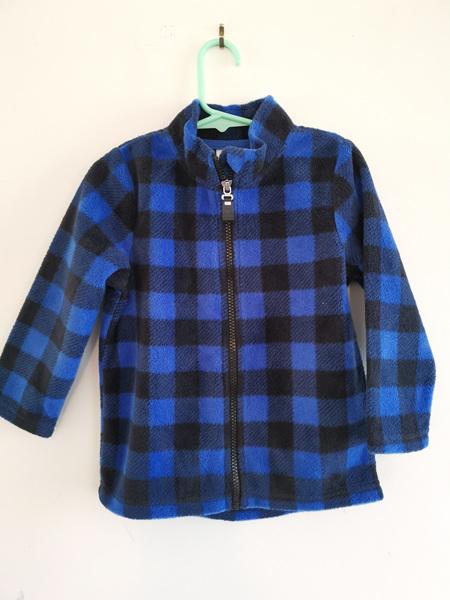 Blue Checkered Fleece Jacket