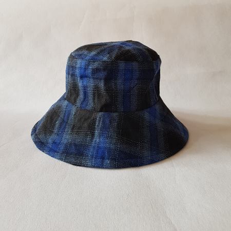 Blue Checks Bucket Hat - Adult size large
