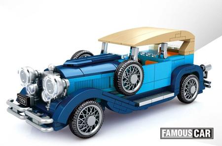 Blue Classic Car 348 Pieces