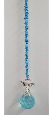 Blue crystal Angel Hanging