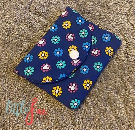 Blue Daisy Flower Coin Purse