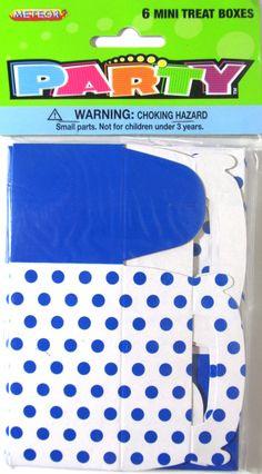 Blue Dot Mini Treat Boxes x 6