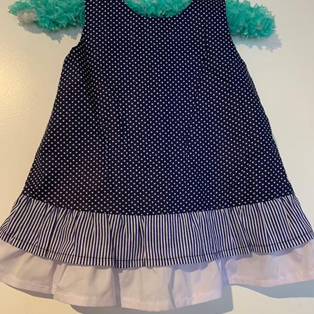 Blue Dots dress #1 - Size 2