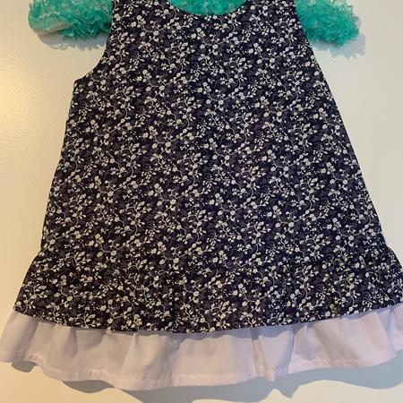 Blue Floral dress #1 - Size 2