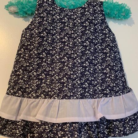Blue Floral dress #2 - Size 2