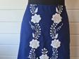 Blue Floral Skirt - Adult Size 14
