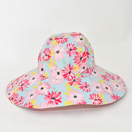 Blue Floral Sombrero Hat - Adult size large