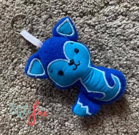 Blue Fox Keyring