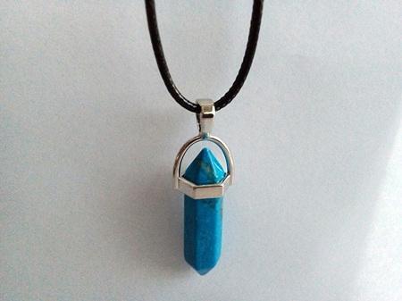 Blue Gemstone Point Pendant Type B