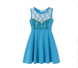 Blue Girls Dress Size 5