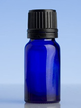 Blue Glass Bottle - 10ml with slow dripulator