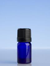 Blue Glass  Bottle - 5ml with slow dripulator cap