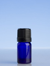Blue Glass  Bottle - 5ml with slow dripulator cap