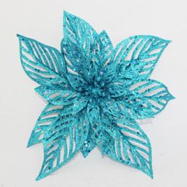 Blue Glitter Poinsettia