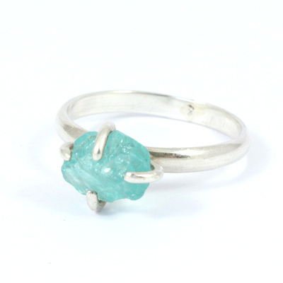 Blue Green Apatite Ring