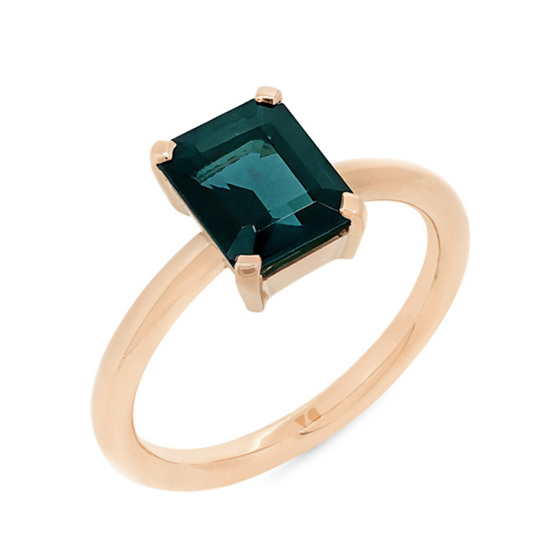 Blue-Green Tourmaline Ring