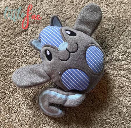 Blue & Grey Squirrel Toy