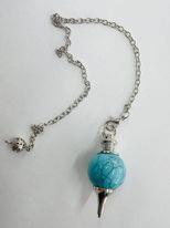Blue Howlite Sphere Pendulum