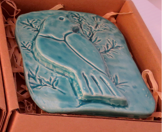 Blue Kereru Ceramic Wall Art