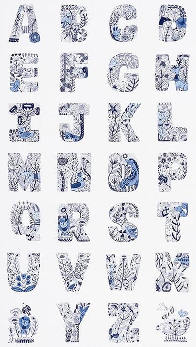 Blue Lettered Panel 1751762