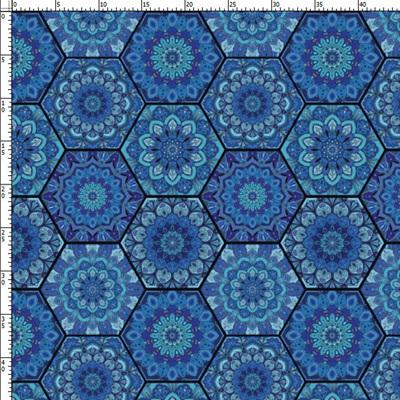 Blue Mandela Lycra