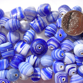 Blue Marble Bead Mix