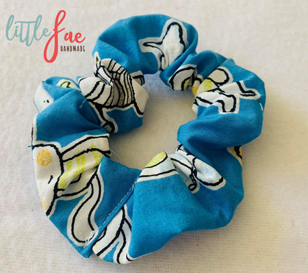 Blue Monkey Scrunchie