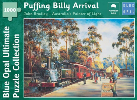 Blue Opal 1000 Piece Jigsaw Puzzle: Bradley - Puffing Billy Arrival